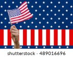 digital composite of hand... | Shutterstock . vector #489016696