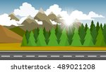 the autumn landscape of forests ... | Shutterstock .eps vector #489021208