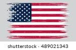 grunge american flag.vector... | Shutterstock .eps vector #489021343