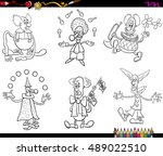 black and white cartoon...   Shutterstock .eps vector #489022510