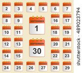 set of icons for the calendar... | Shutterstock .eps vector #489023794