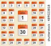 set of icons for the calendar... | Shutterstock .eps vector #489023818