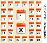 set of icons for the calendar... | Shutterstock .eps vector #489023854