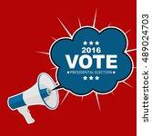 presidential election vote 2016 ...   Shutterstock .eps vector #489024703