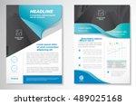 vector brochure flyer design... | Shutterstock .eps vector #489025168