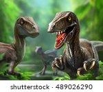 Three Dinosaurs Velociraptors...
