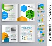 white business brochure... | Shutterstock .eps vector #489027070