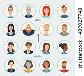 vector collection of characters ... | Shutterstock .eps vector #489027748