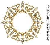 decorative line art frames for... | Shutterstock .eps vector #489031129