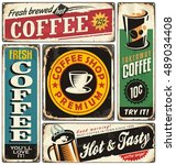 Coffee Shop Retro Metal Signs...