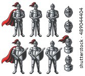 Set Of Color Knights In...