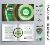 green business brochure... | Shutterstock .eps vector #489044929