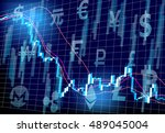 stock prices virtual currency | Shutterstock .eps vector #489045004