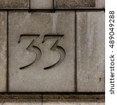 Small photo of Postal or address numbers on residential or business buildings for indentification