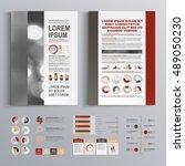 classic business brochure... | Shutterstock .eps vector #489050230