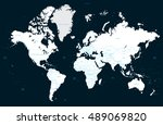 high detail political world map ... | Shutterstock .eps vector #489069820