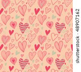 romantic seamless pattern in... | Shutterstock .eps vector #48907162