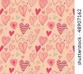 romantic seamless pattern in... | Shutterstock .eps vector #48907162