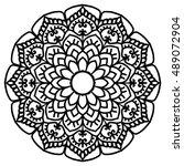 mandala for painting. vector...   Shutterstock .eps vector #489072904