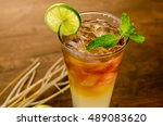 cocktail long island iced tea... | Shutterstock . vector #489083620