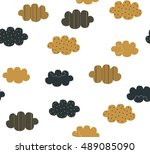 abstract cute brown and black... | Shutterstock .eps vector #489085090
