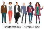 handsome young guys men with... | Shutterstock .eps vector #489088420