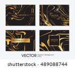 business card with black and... | Shutterstock .eps vector #489088744