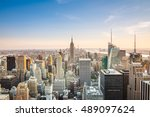 aerial views from top of the... | Shutterstock . vector #489097624