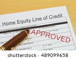 applying for a home equity line ... | Shutterstock . vector #489099658