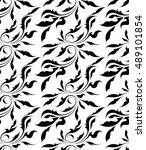 vector black and white seamless ...   Shutterstock .eps vector #489101854
