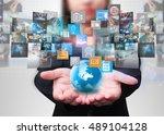 social media concept. | Shutterstock . vector #489104128