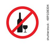 no drink  sign vector | Shutterstock .eps vector #489108304