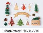 christmas trees collection for... | Shutterstock . vector #489112948