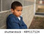 upset little boy. | Shutterstock . vector #489117124