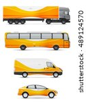 branding design for transport.... | Shutterstock .eps vector #489124570