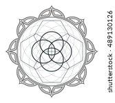 vector contour monochrome... | Shutterstock .eps vector #489130126