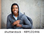 Happy teenage student
