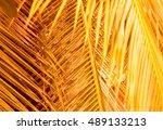 Orange Background Made Of...