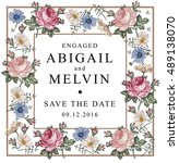 wedding invitation. beautiful... | Shutterstock .eps vector #489138070