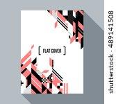 futuristic poster cover design... | Shutterstock .eps vector #489141508