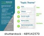 template of banner poster...   Shutterstock .eps vector #489142570
