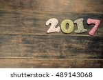 new year theme decoration... | Shutterstock . vector #489143068