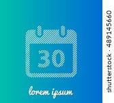 30th calendar white stroke fill ...