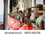 closeup of head and valves of... | Shutterstock . vector #489146038