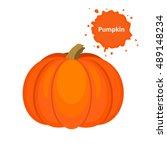 vector tasty and healthy... | Shutterstock .eps vector #489148234