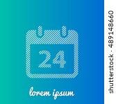 24th calendar white stroke fill ...
