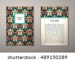 flyer template with abstract... | Shutterstock .eps vector #489150289