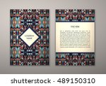 flyer template with abstract... | Shutterstock .eps vector #489150310