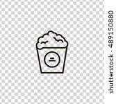 popcorn icon vector  clip art....