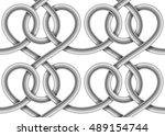 braided cable vector seamless... | Shutterstock .eps vector #489154744